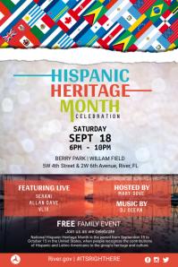 Hispanic Heritage Family Event Poster