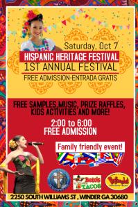 Hispanic heritage festival Affiche template