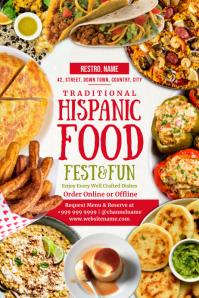 Hispanic Heritage Food Fest Template Poster