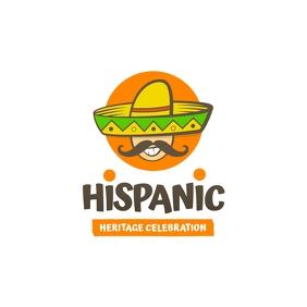 Hispanic Heritage Logo Logotipo template