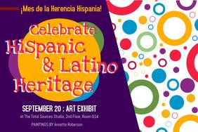 Hispanic Heritage Month Art Exhibit Poster Template