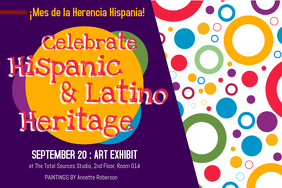 Hispanic Heritage Month Art Exhibit Poster Template