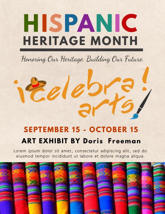 Hispanic Heritage Month Art Exhibition Poster Template