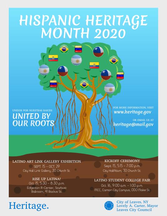 Hispanic Heritage Month Basic Flyer template