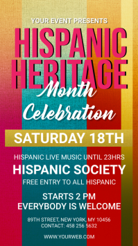 Hispanic Heritage month celebration digital s Digitalt display (9:16) template
