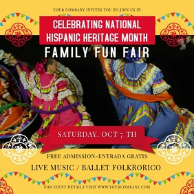 Hispanic Heritage Month Celebration Square Video