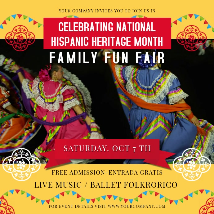 Hispanic Heritage Month Celebration Square Video