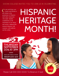Hispanic Heritage Month College Flyer