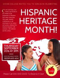Hispanic Heritage Month College Flyer