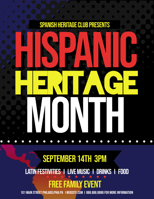 hispanic heritage month template postermywall