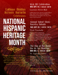 Hispanic Heritage Month Detailed Information Flyer