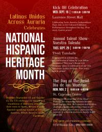Hispanic Heritage Month Detailed Information Flyer