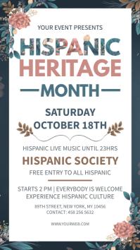 Hispanic heritage month digital display 数字显示屏 (9:16) template