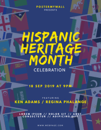 Hispanic Heritage Month Event Flyer Design