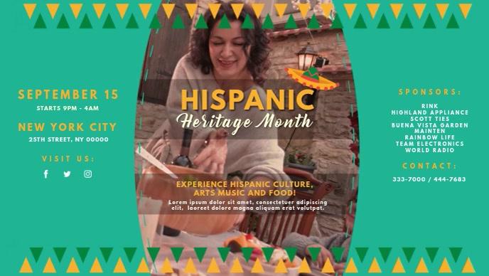 Hispanic Heritage Month Event Invite Video
