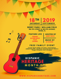 Hispanic Heritage Month Family Event Flyer