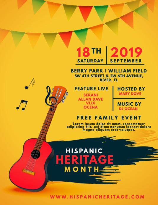 Hispanic Heritage Month Family Event Flyer