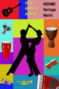 Hispanic Heritage Month/herencia hispana Poster template