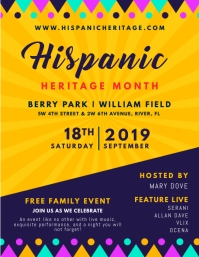 Hispanic Heritage Month Invitation Flyer