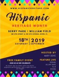 Hispanic Heritage Month Invitation Flyer