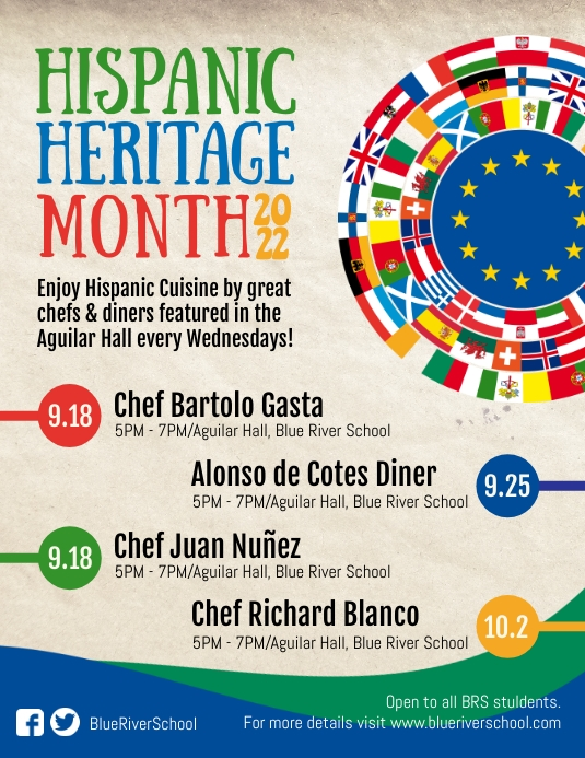 Hispanic Heritage Month Local Event Flyer template