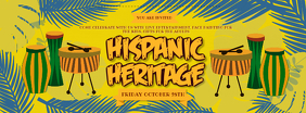 Hispanic Heritage Month Music Event Banner Facebook Cover Photo template