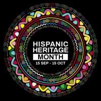 Hispanic Heritage Month Post Template Publicação no Instagram