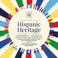 Hispanic Heritage Month Post Template Сообщение Instagram