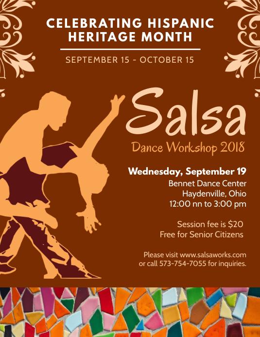 Hispanic Heritage Month Salsa Poster Template