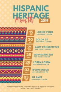 Hispanic Heritage Month Schedule Event Flyer