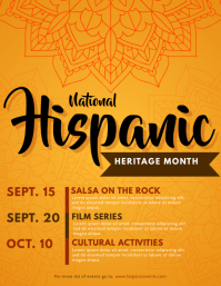 Hispanic Heritage Month Schedule Poster Template Flyer (US Letter)