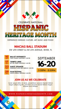 Hispanic Heritage Month Story Template Checke