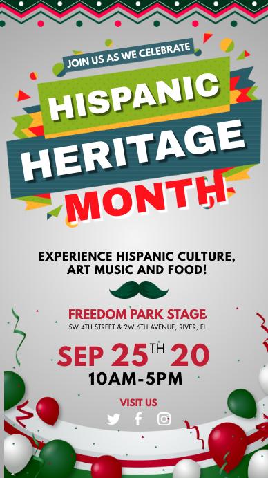 Hispanic Heritage Month Story Template