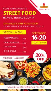 Hispanic Heritage Month Street Food Menu