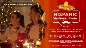 Hispanic Heritage Month Video Invitation template