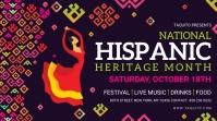 Hispanic heritage month with illustration sig Digital na Display (16:9) template