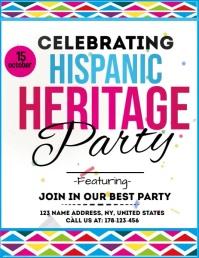 hispanic heritage poster Flyer (US Letter) template