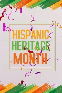 hispanic heritage poster template