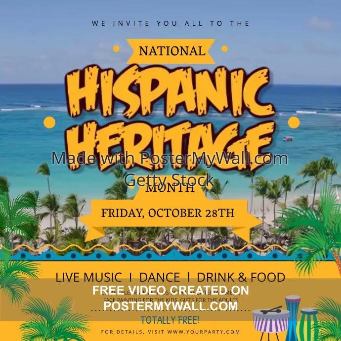 Hispanic Heritage Sea Square Video