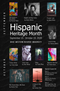 Hispanic Heritage University Poster template