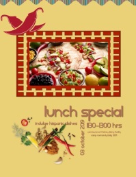 Hispanic Lunch Flyer (US Letter) template