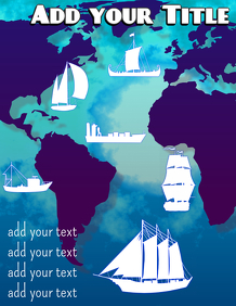history of ship travel over world map