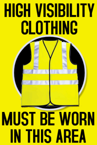 HiVis Workplace Safety Poster Template