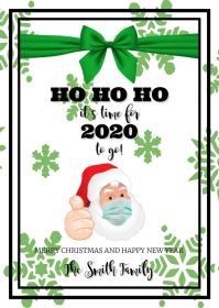HO HO HO - Christmas Card A6 template