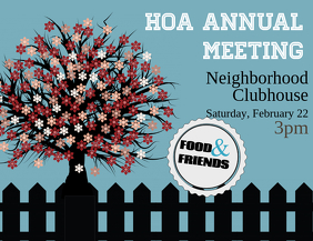 HOA Neighborhood Meeting
