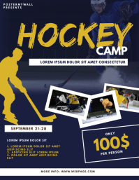 Hockey Camp Flyer Design Template