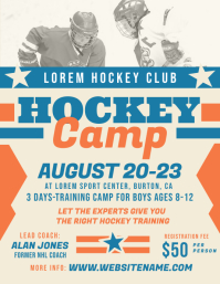 Hockey Camp Flyer Tempate Volante (Carta US) template