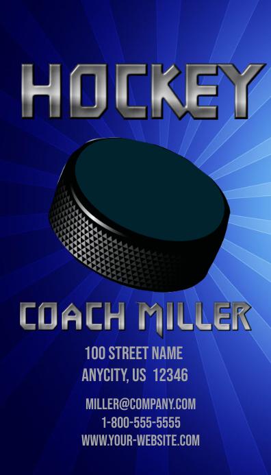 Hockey Trainer Visitenkarte Vorlage Postermywall