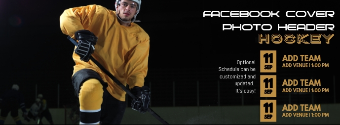 Hockey Facebook Cover Photo Header