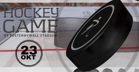 Hockey facebook video post templtae